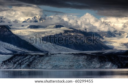 Harvard Glacier in College Fjord, Alaska - stock photo