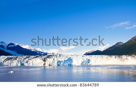 Harvard Glacier in College Fjord, Alaska
