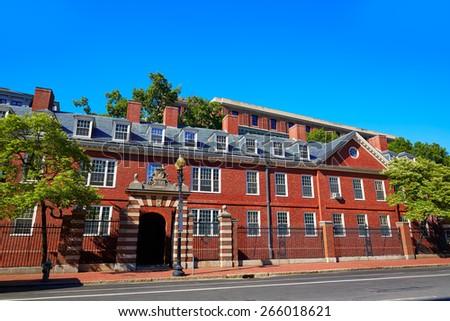 Harvard University in Cambridge Massachusetts USA - stock photo