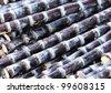 harvest black sugarcane - stock photo