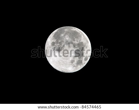 harvest moon full frame close up as seen from malibu, los angeles, southern california, usa, 2011 - stock photo