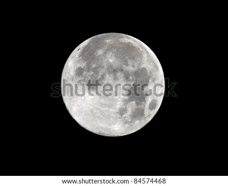 harvest moon full frame close up as seen from malibu, los angeles, southern california, usa - stock photo