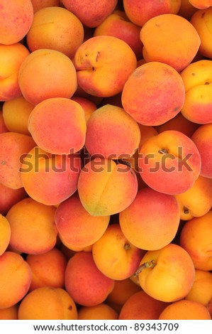 Harvest of peaches - stock photo