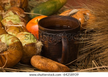 Harvest. Still Life with Fruit and vegetables