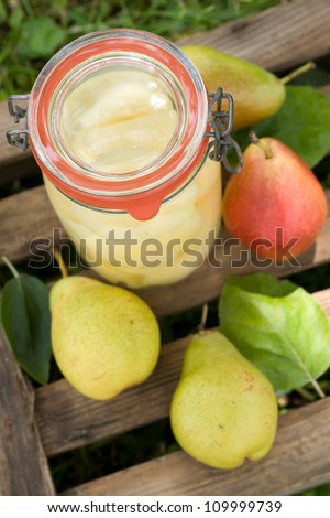 Harvest time, pears - stock photo