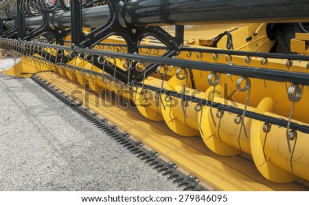 harvester header on fair - stock photo
