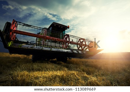 Harvesting machine - stock photo