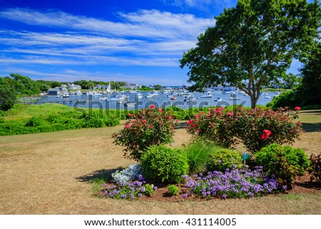 Harwich garden park in Massachusetts - stock photo