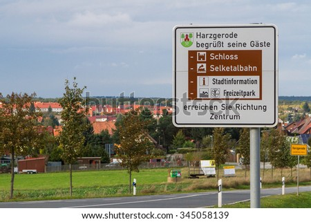 Harzgerode, Trafic sign