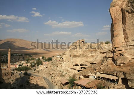 Hasankeyf village in mardin,turkey. - stock photo