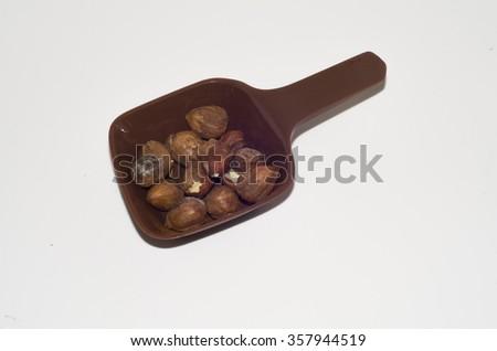 haselnuts - stock photo