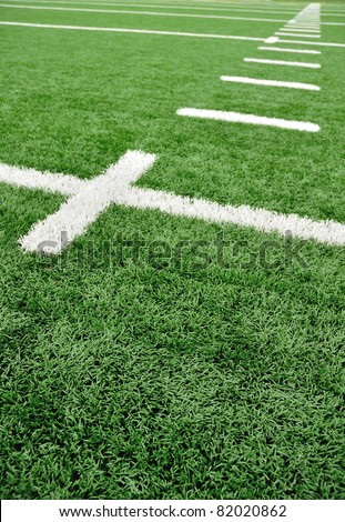 Hash Marks on an American Football Field