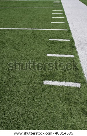 Hashmarks of a football field