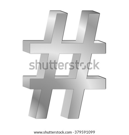 Hashtag Symbol - stock photo