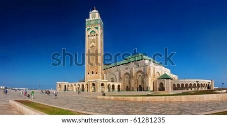 Hassan II Mosque - Casablanca, Morocco - stock photo