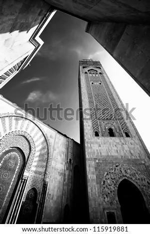 Hassan II Mosque, Casablanca, Morocco, Africa - stock photo