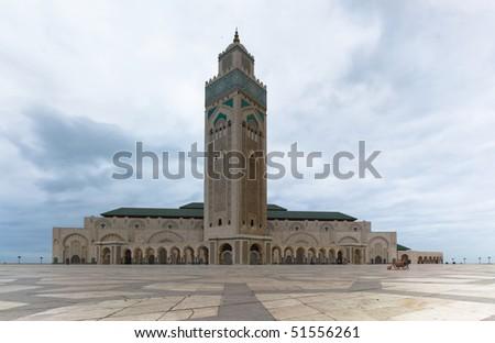 Hassan II Mosque in Casablanca - stock photo