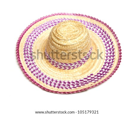 Hat color purple for protect sun light - stock photo