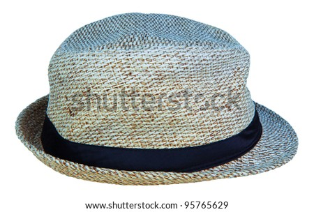 hat made from nature material - stock photo