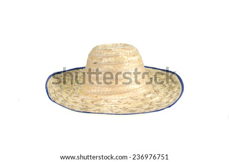 Hat made of bamboo