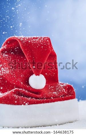 hat of Santa Claus  - stock photo
