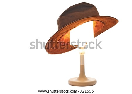 Hat on a Lamp