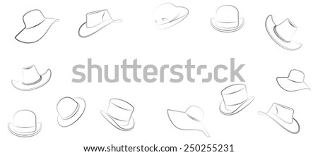 hat on a white background