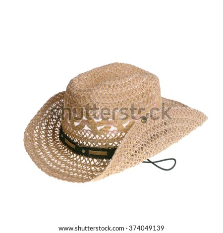 hat on isolated on white background