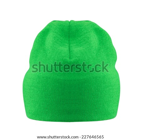 hat on white background - stock photo