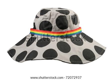 hat polka dots - stock photo