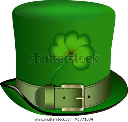 hat, St. Patrick's Day, Rasterized versions - stock photo