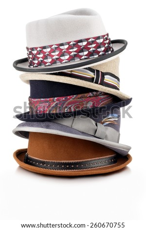 Hat Stack - stock photo