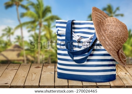 Hat, summer, isolated. - stock photo