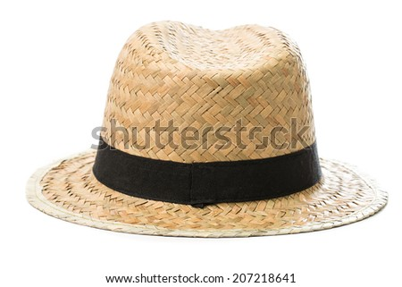 Hat Summer with white background