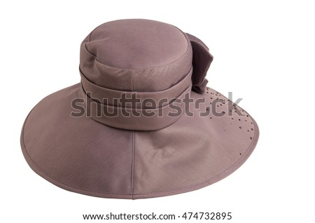 hat with a brim isolated on white background