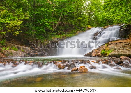 Hatchery Falls are located in the District of Muskoka Ontario Canada. - stock photo