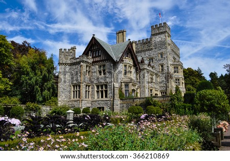 Hatley castle, Victoria, Canada - stock photo