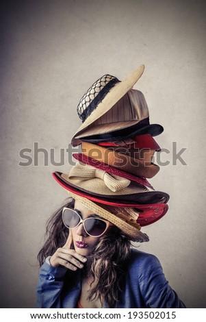 hats - stock photo