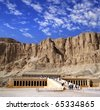 Hatsepsut temple, Egypt, UNESCO - stock photo