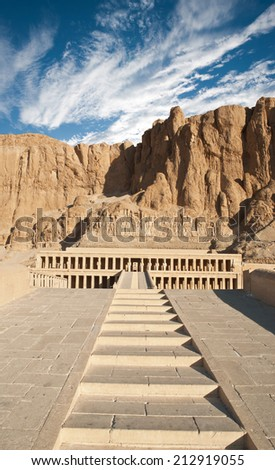 Hatshepsut temple  - stock photo