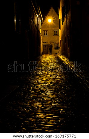 haunted black street