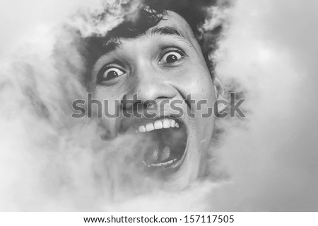 Haunted Cloud, Scene For Halloween And Fiction Background - stock photo