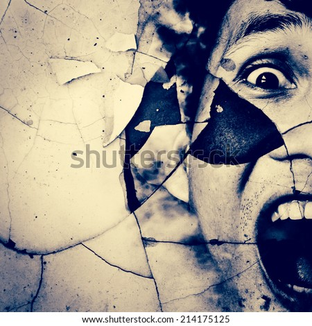 Haunted,Horror Background For Movies Poster Project  - stock photo