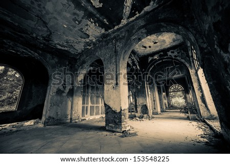 Haunted Hotel. Similar images at http://www.shutterstock.com/sets/1044707-haunted-hotel.html?rid=1728748 - stock photo