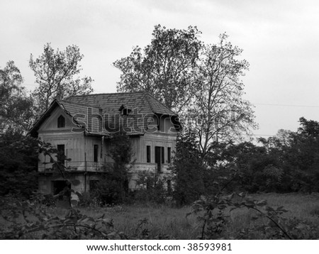 Haunted House for halloween party - stock photo