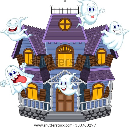 Cartoon haunted house stock images royalty free images - Cartoon haunted house pics ...