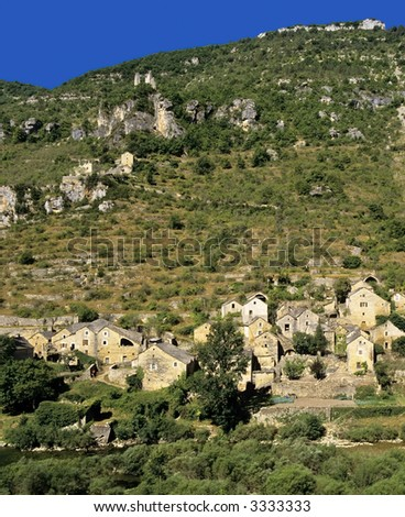 hauterives village in the gorge du tarn lozere languedoc-roussillon south of france europe