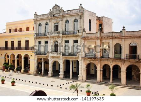 Havana, Cuba - city architecture - stock photo