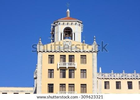 Havana, Cuba - famous old landmark in Vedado district, Hotel Nacional - stock photo