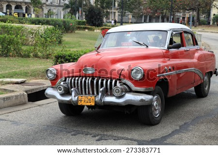HAVANA, CUBA - FEBRUARY 10: Classic vintage Chevrolet, on February 10, 2012. Before October 2011, Cubans could only trade old cars that were on the road before the 1959 revolution.